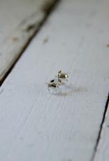 Sterling Silver Origami Sea Turtle Earrings
