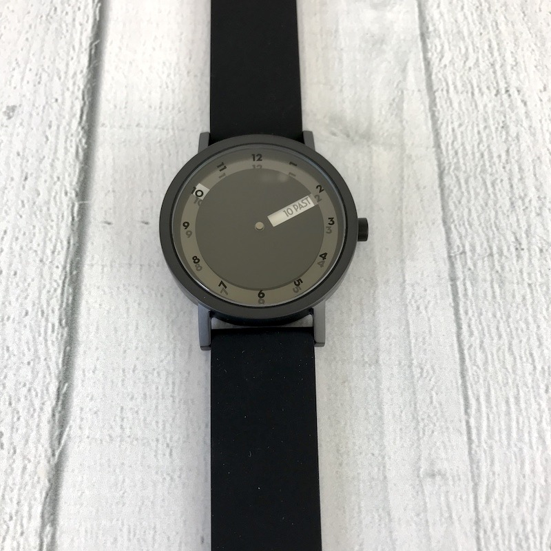 'Till Watch, 40mm Black face with Black Silicone Band