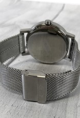 'Till 40mm Brushed Stainless Steel Watch with Mesh Band