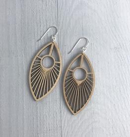 Eye of the Peacock Earrings / Standard Length | BLONDE WOOD