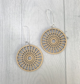 Full Circle Earrings / Long Length | BLONDE WOOD