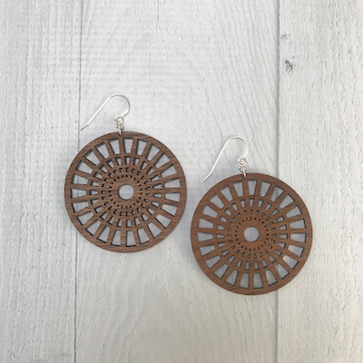 Full Circle Earrings / Standard Length | MEDIUM WOOD