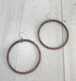 Beach Party Hoops  | MEDIUM WOOD
