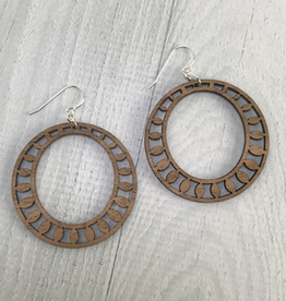 Sundrop Hoop Earrings | MEDIUM WOOD