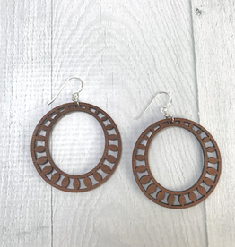 Sundrop Hoop Earrings | DARK WOOD