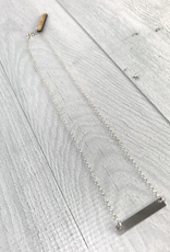 "Handmade 18"" Sterling Silver Classic Bar Necklace"