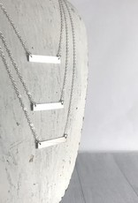 """Handmade 16"""" Sterling Silver Classic Bar Necklace"""