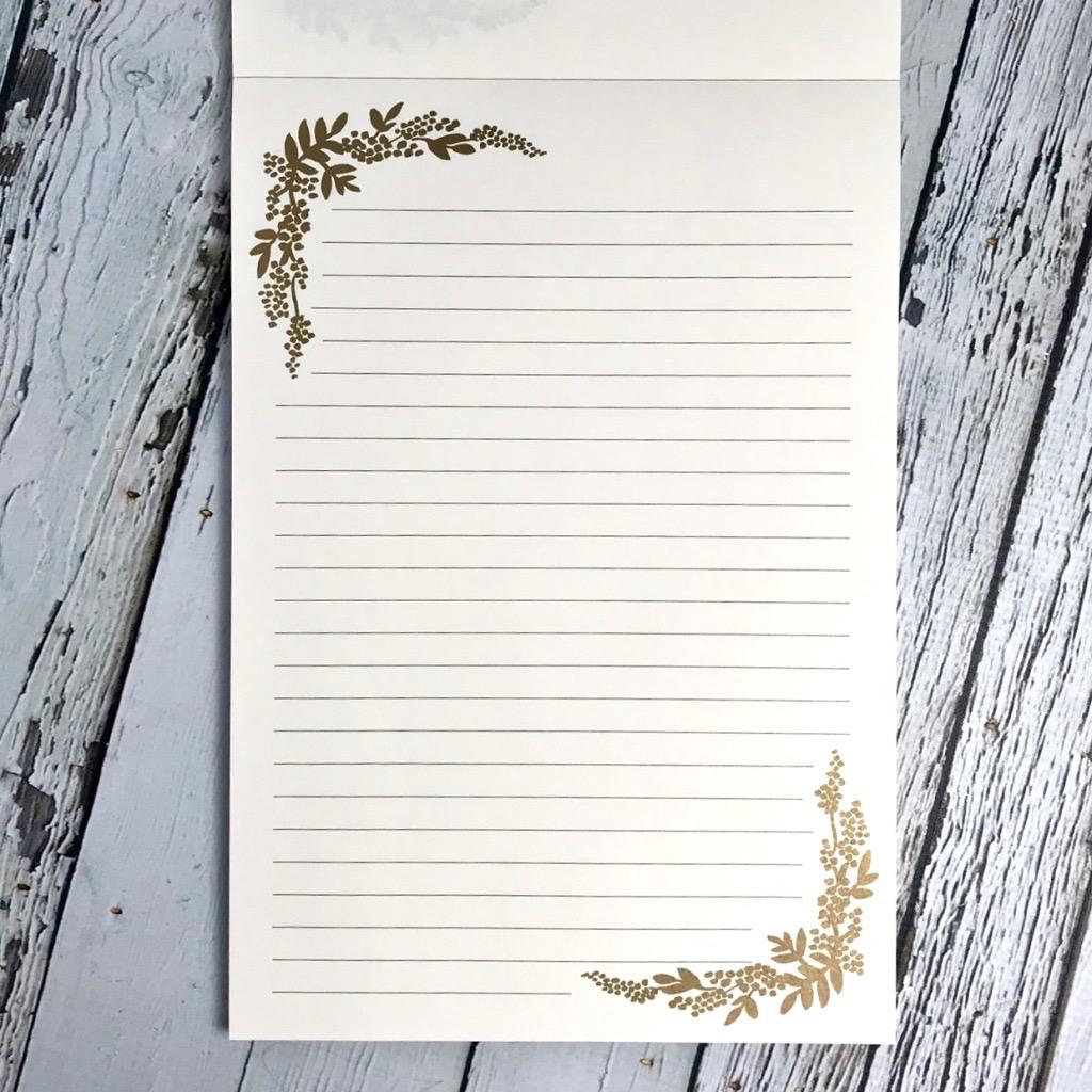 Mint Birch Monarch Writing Pad