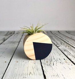 Navy Circle Magnetic Air Plant Holder