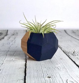 Navy Geo Air Plant Holder