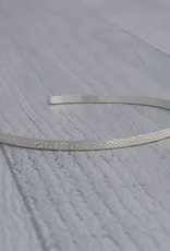 Sterling Silver Diamond Dusted Narrow Cuff