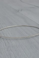 Handmade  Sterling Silver Diamond Dusted Petite Bangle