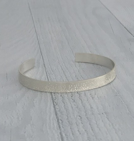 Sterling Silver Diamond Dusted Grand Cuff