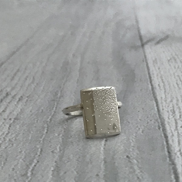 Handmade Diamond Dusted Sterling Silver Everlong Ring