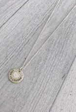 LOVE IS LOUDER Sterling Silver Diamond Dusted Mini Coin Necklace