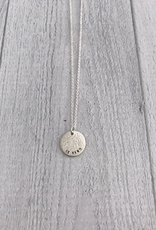 Be KIND Sterling Silver Diamond Dusted Mini Coin Necklace