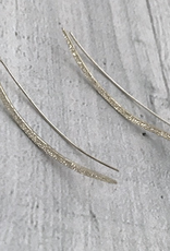 Handmade Diamond Dusted | sterling silver long ear climber pair