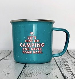 Let's Just Go Camping Enamel Mug