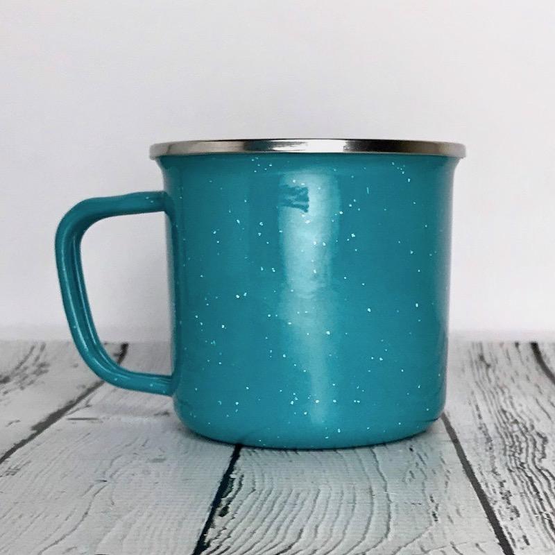Let's Just Go Camping Enamel Mug