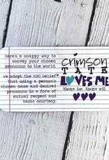He/Him Enamel Pronoun Pin by Crimson Tate