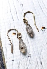 Handmade Earrings with Herkimer Diamond Drops on 14k Gold-fill earwires.