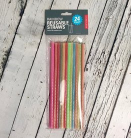 Rainbow Reusable Straws