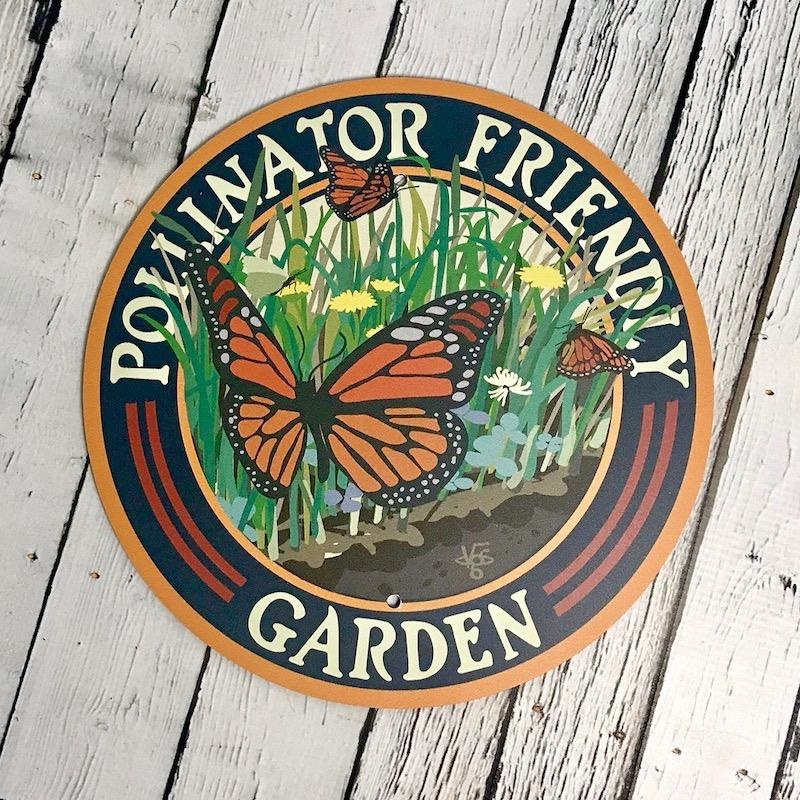 Butterfly Pollinator Friendly Garden Sign