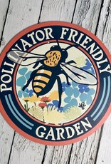 Bee Pollinator Friendly Garden Sign