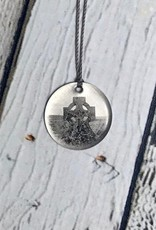 Sterling Litho Gaelic Cross Necklace - Emily Schwank Collection