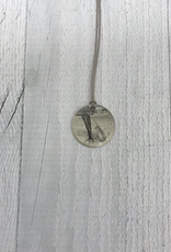 Sterling Litho Guitar Necklace - Emily Schwank Collection