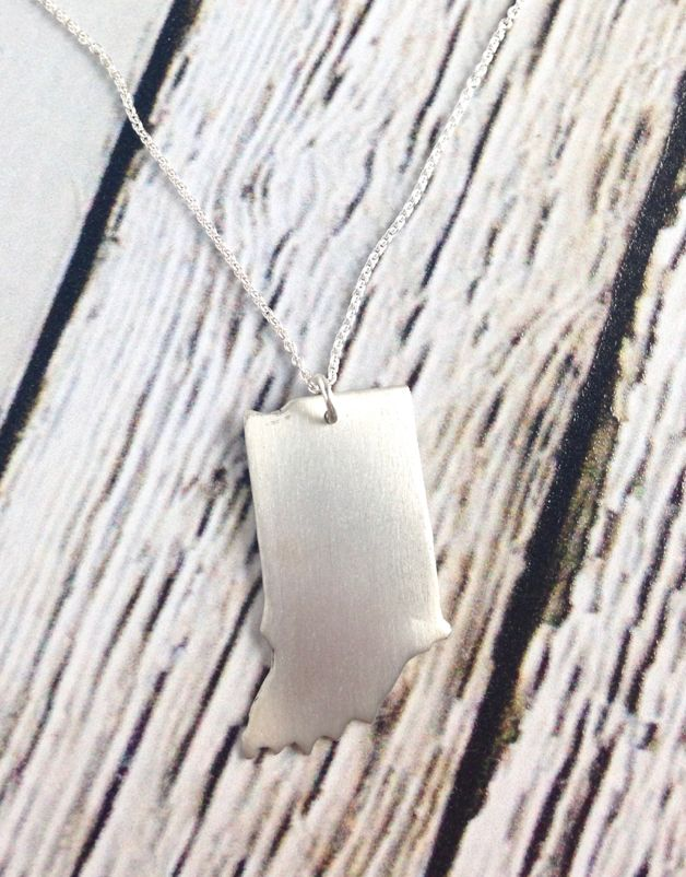 Handstamped Brushed Indiana Necklace