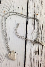 Hand formed Sterling Heart Necklace
