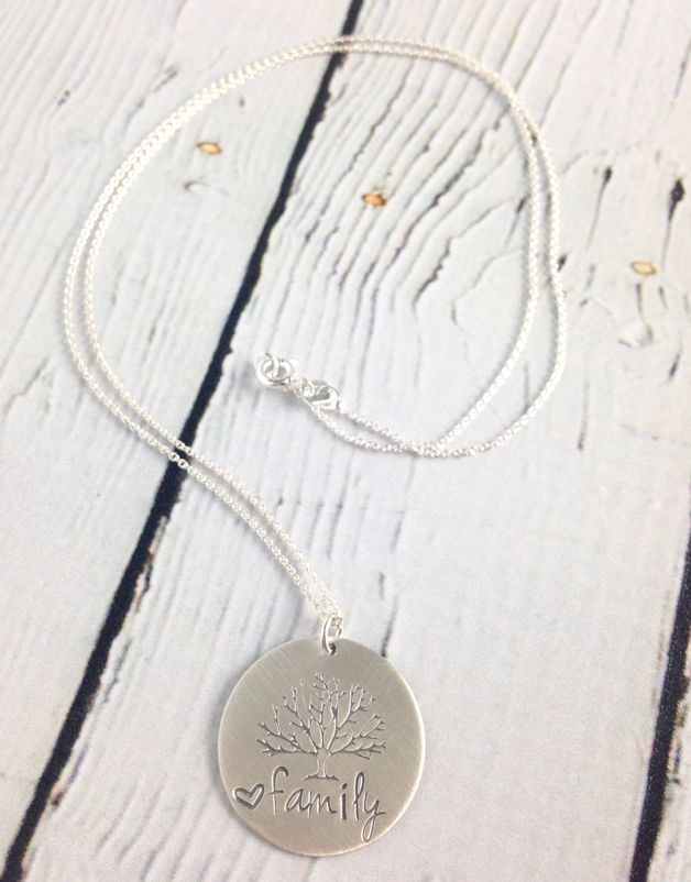Handstamped Family Tree Necklace