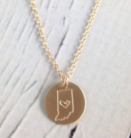 Handstamped Gold Filled Indiana Heart