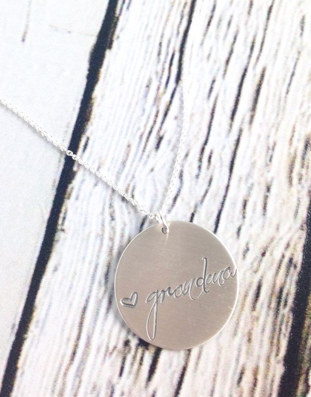 Handstamped Grandma Necklace