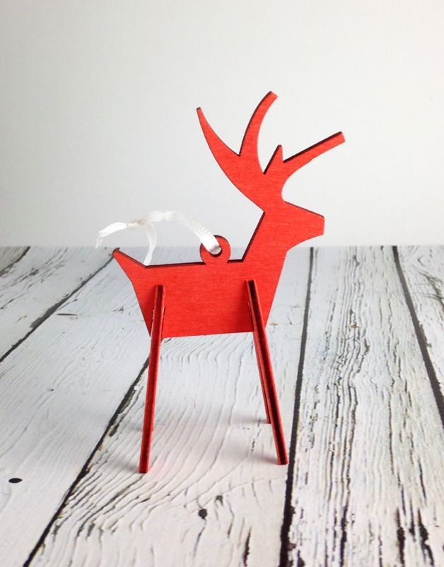 Alpine Reindeer Ornament