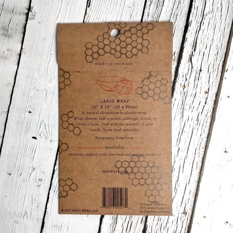 Single Large Bee's Wax Wrap