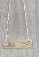 Sterling Silver Family Tree Necklace, Family of 3