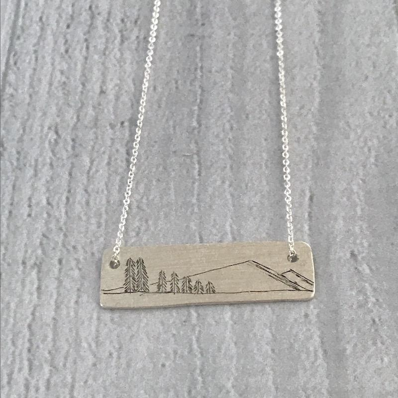 Sterling Silver Family Tree Necklace, Family of 7