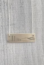 Sterling Silver Family Tree Necklace, Family of 5