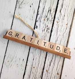 GRATITUDE Scrabble Tile Ornament