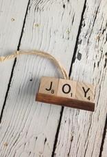 JOY Scrabble Tile Ornament
