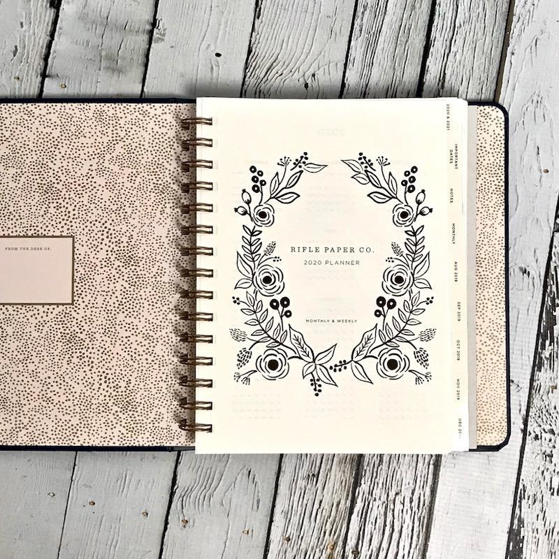 2020 Wild Rose Covered Planner