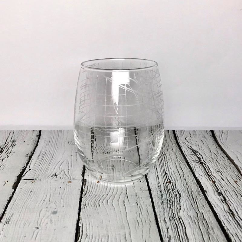 Indianapolis City Map Stemless Glass