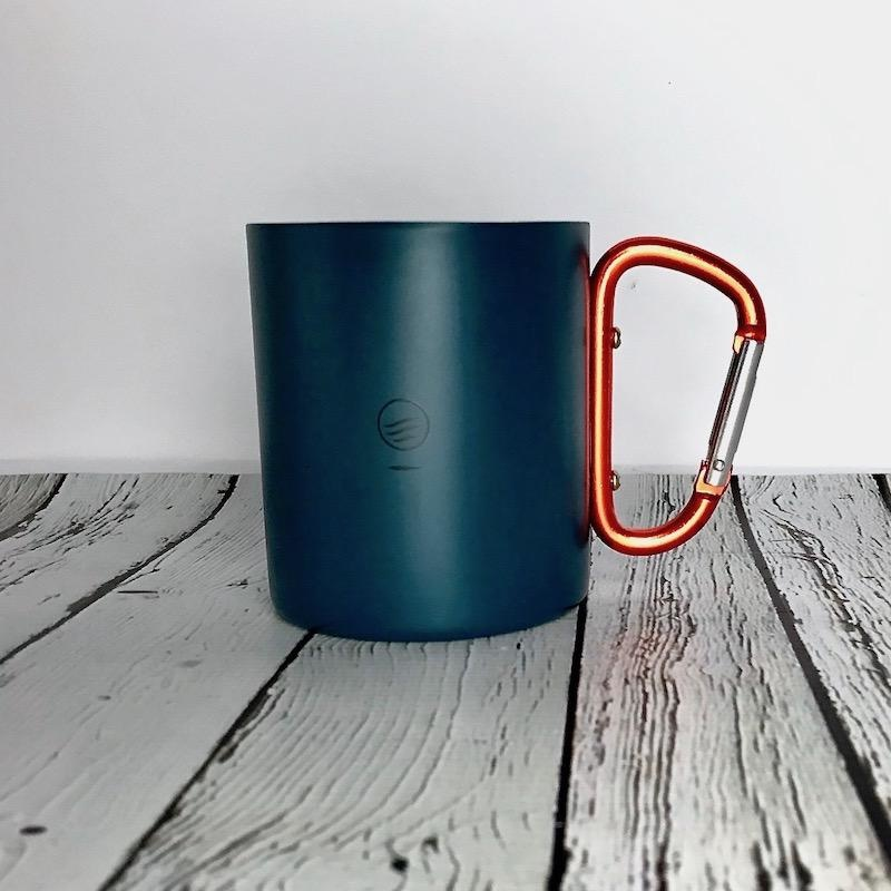 Passing Through 10oz Stainless Steel Carabiner Cup