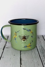 Honey Bee 22oz Enamel Steel Mug