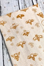 Gold Bees Cotton Towel