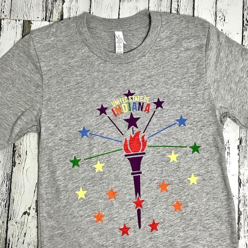Torch and Stars Pride Tee