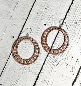 Sundrop Hoop Earrings | BLONDE WOOD
