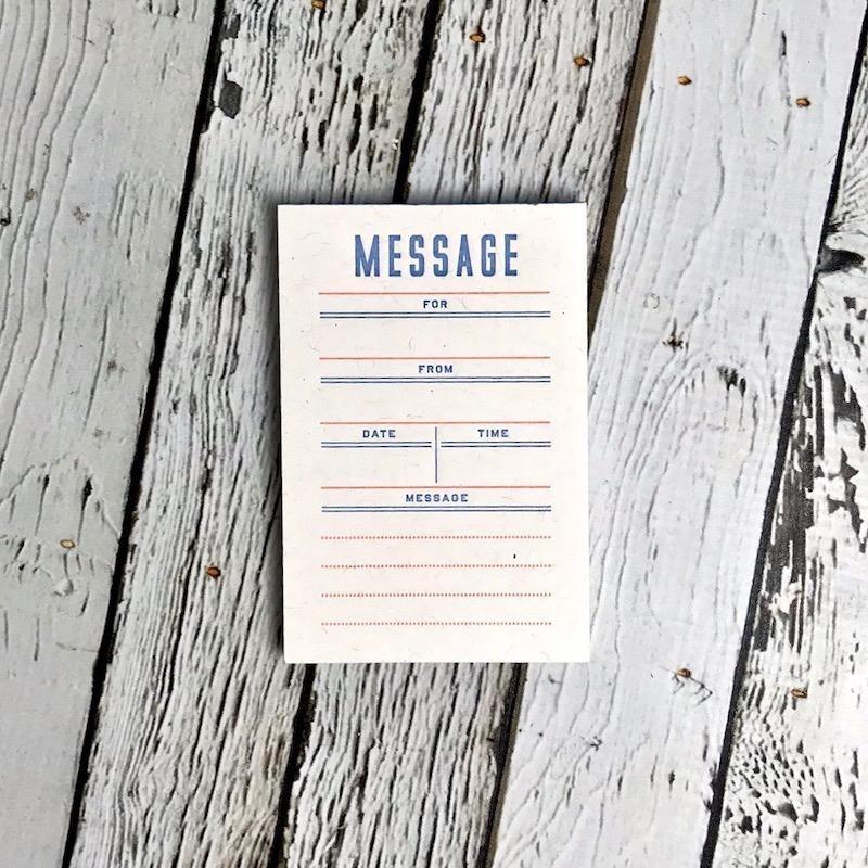 Mini Note Pad: Message